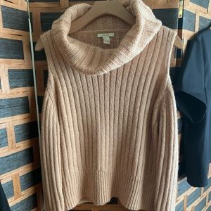 Cowl neck, peek a boo shoulder 1/2 sweater